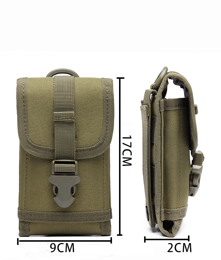 Outdoor Waist Belt Military Sports Bag Case For Caterpillar <font><b>Cat</b></font> <font><b>S61</b></font> S60/ <font><b>Cat</b></font> S40/ <font><b>Cat</b></font> S30 S41 S31 For AGM A8 S30 Ulefone Armor 2 image