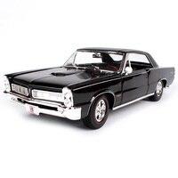Maisto 1:18 1965 pontiac gto hurst car diecast 285*100*80 classic luxury black men car model motorcar collective edition 31885