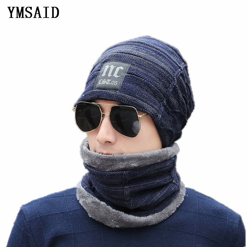 Ymsaid Winter Ski Knitted Hat   Beanies   Men Women Scarf Cap Mask Gorras Bonnet Warm Baggy Winter Hats For Men   Skullies     Beanies   Hat