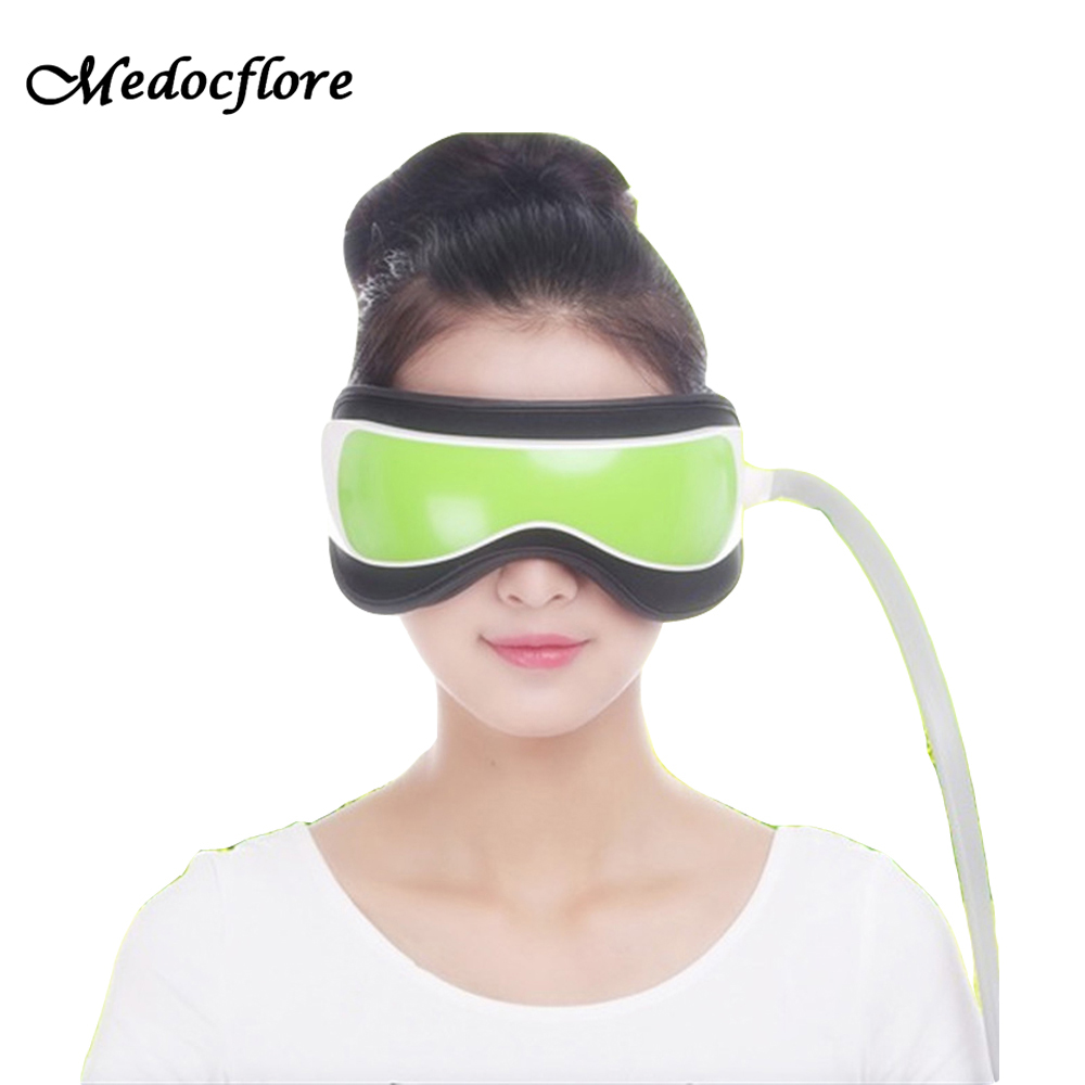 Hot Air pressure Eye Massager With MP3 6 Functions Dispel Eye Bags Eye Magnetic Far Infrared Heating Eye Care kiki new air pressure eye massager with mp3 6 functions dispel eye bags eye magnetic far infrared heating eye care