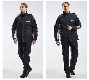 Płaszcz przeciwdeszczowy kombinezon przeciwdeszczowy dla dorosłych Split płaszcz przeciwdeszczowy jazda motocyklem wodoodporny ultracienki męski płaszcz przeciwdeszczowy na zewnątrz tanie i dobre opinie