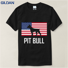 Men Pit Bull American Pitbull Standing Proud O-Neck Short-Sleeve T Shirts