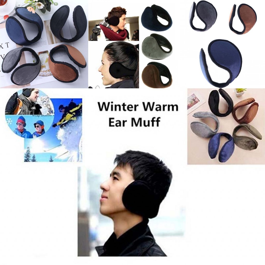 1pc/5pcs Male Female Winter Warm Earmuff Soft Thick Ear Muff Wrap Band Ear Warmer Earlap 4colors Ear Protector For Women Men