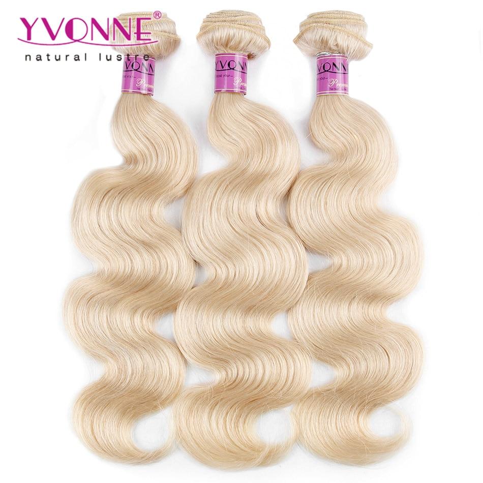 ФОТО Color 613 Body Wave Blonde Brazilian Hair,3Pcs/lot Brazilian Human Hair Weave,16-22 Inches Aliexpress Yvonne Hair