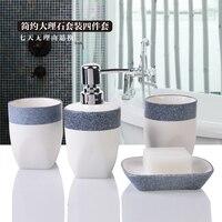 ceramic bathroom set 4pcs 1 set bathroom accessories Soap Dispens+Toothbrush Holders+soap box+tooth cup wedding gift