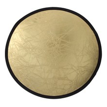 Promotion 60/80/110cm 2-in-1 Light Mulit Collapsible Disc Reflect Round Photography Reflector for Studio Silver/Gold