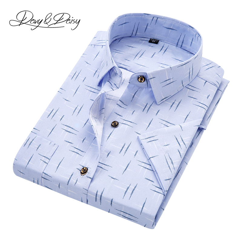 DAVYDAISY 2018 Summer Short Sleeve Shirts Men Casual Printed Dress Shirt Male Chemise Homme Camisas Hombre Vestir Colores DS-228