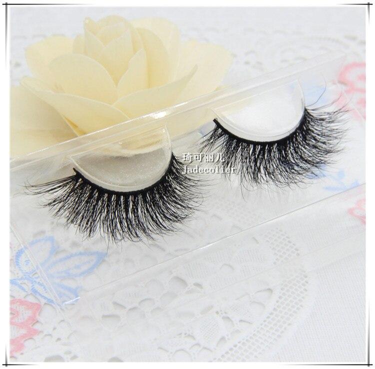 Ny stil charmerende 1 par 100% 3D ægte mink pels tyk lang blød - Makeup - Foto 2