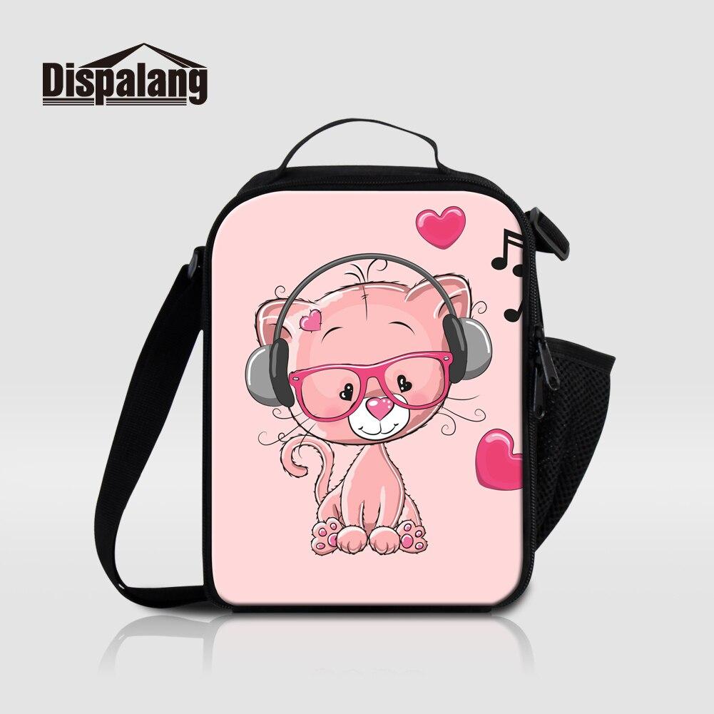 Dispalang Thermische Isolierte Mittagessen Taschen Für Mädchen Cartoon Kühltasche Picknick Lebensmittel Tasche Musik Kleine Kinder Lunchbox Bolsa Termica
