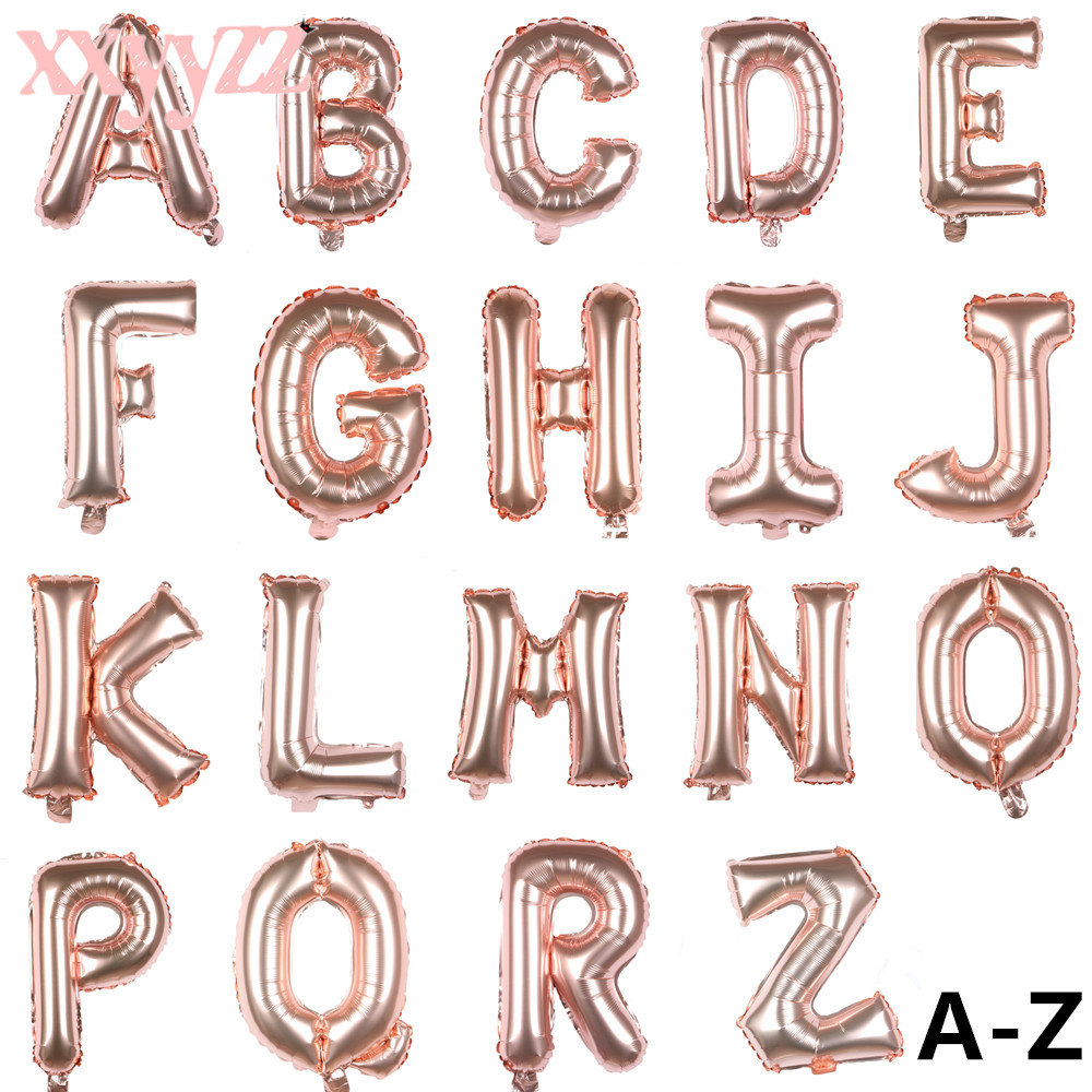"16/""//40/"" Gold Letter A-Z Alphabet Foil Balloons Birthday Wedding Party Decoration"