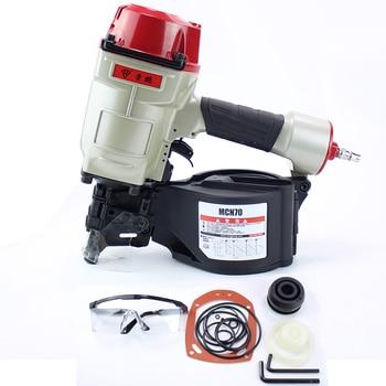 RP CN70 45mm-70mm Pneumatic Pallet Making Coil Nailer Efficient Roll Nail gun For Pallet  Industry Air Coil Nailer piston stop bumper for cn70 cn80 coil nailer spare parts accessory for nail gun cn70 cn80