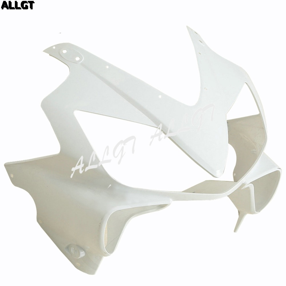 ALLGT Motorcycle ABS Injection Unpainted White Upper Cowl Front Nose Top Fairing For Honda CBR 600 F4i 01 02 03 2001 2002 2003