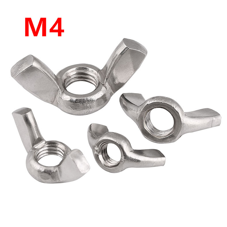 M12 304 10 Pcs Stainless Steel Nut Butterfly Wing Nuts to Fit Bolts Screws