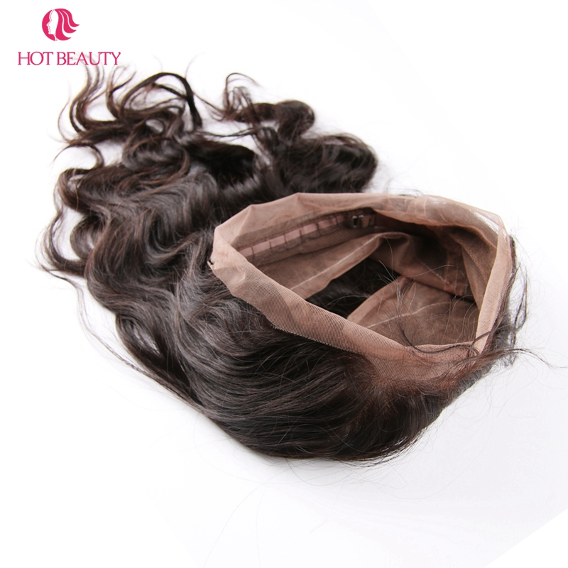 Hot Beauty Hair Remy brésilien Hair Wave Body 360 Dentelle Frontale - Cheveux humains (noir) - Photo 3