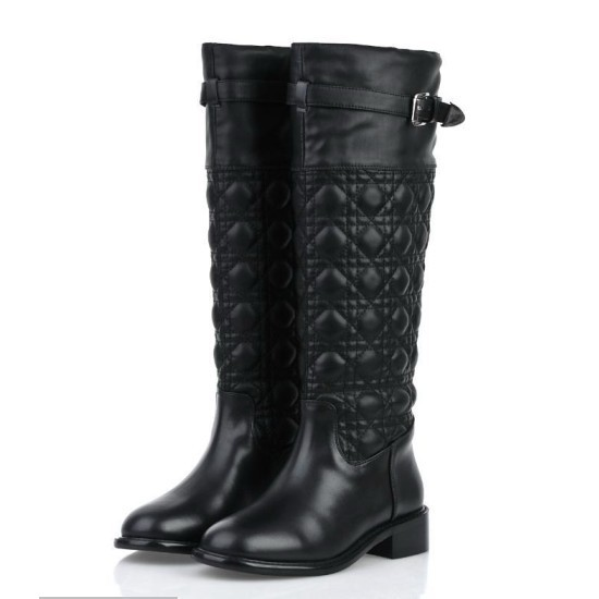 2015 New Arrival Women Autumn Winter Low Heel Genuine Leather Buckle Round Toe Fashion Knee High Boots Size 34-40 SXQ0826 john cipollina nick gravenites band