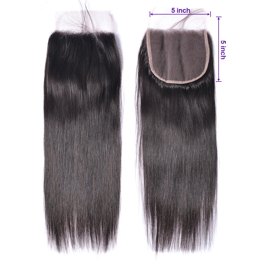 5x5 Lace Closure Straight Hair Closure Maxine 10 20 Inch Human Hair Closure Natural Color Remy