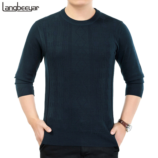 2017 New Fashion Winter Mens Clothing Pullover Sweater Men O-Neck Knitted Sweater Business Casual Mens Sweaters And Pullovers