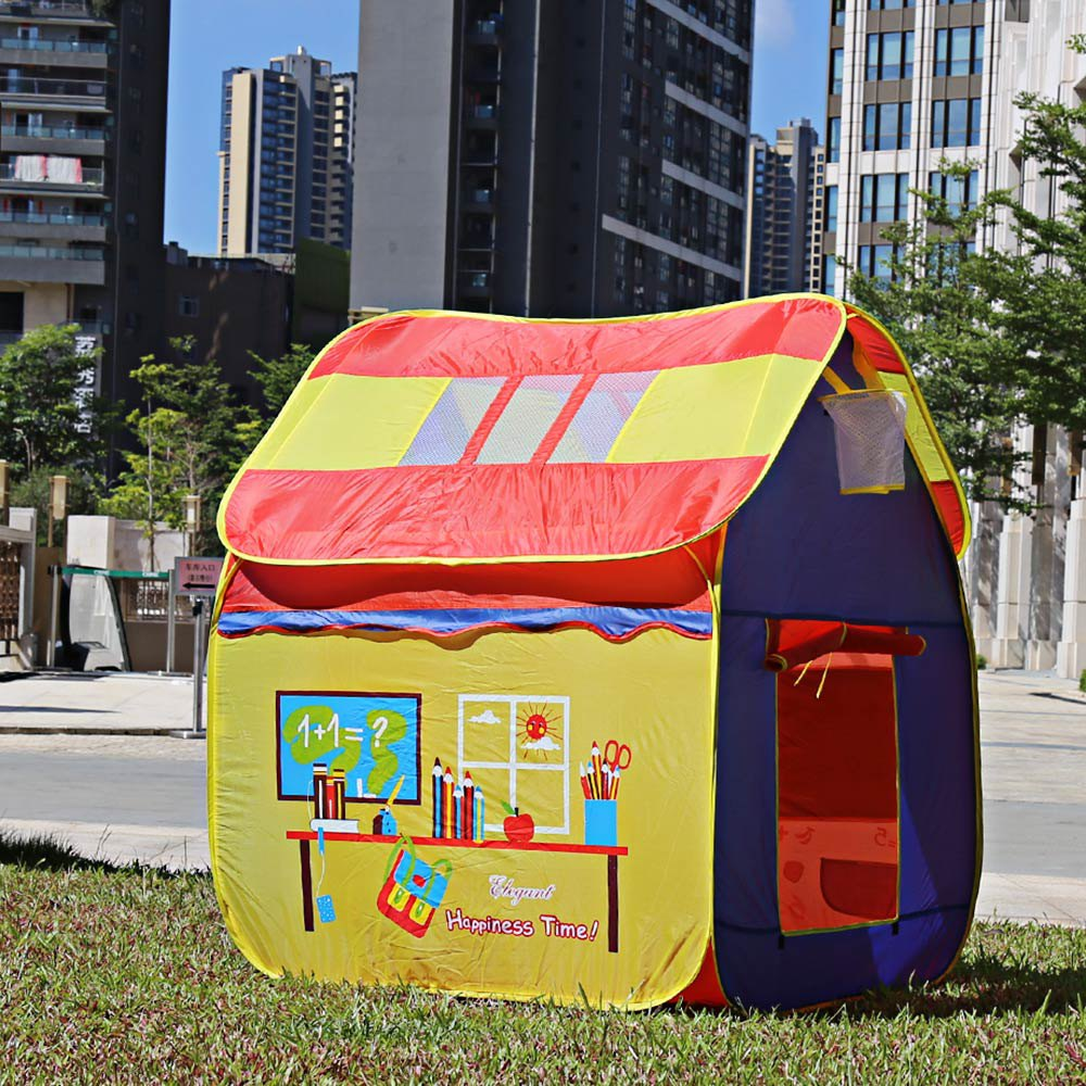 Large Space Playhouse Toy Tents Portable Foldable Outdoor Indoor Cartoon Tent & Tent Peg Children <font><b>Kids</b></font> Toys Play Tent Game House