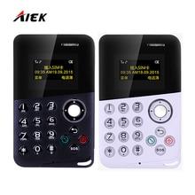 Мини-карты телефон aiek/aeku m8 громкая связь bluetooth сообщение цветной экран низкий уровень излучения дети кармана мобильный телефон pk aiek m5 e1 C6