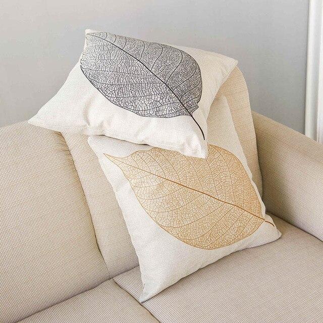 Brown/Black Coffee Leaf Home Decorative Sofa Throw Pillow Cushion ...