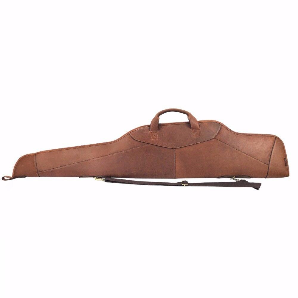Tourbon Охота Пояса из натуральной кожи винтовки скольжения мягкий Стрельба пистолет сумка чехол Carrier пистолет Интимные аксессуары 128 см