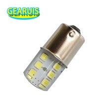 Flash stroboscopique en Silicone S25 P21W 100 BA15S 12 SMD 1156 2835, clignotant de voiture, feu darrêt de stationnement 12V blanc rouge jaune LED pièces