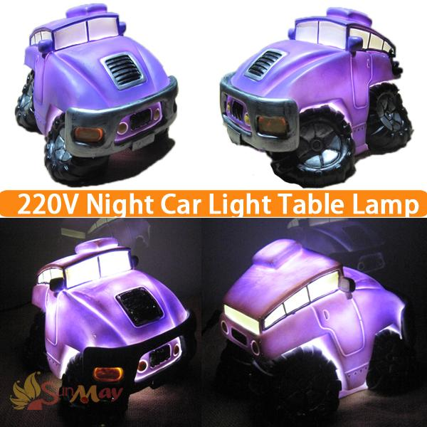 2017 New Fashion LED night light Purple Cartom Car novelty bed lamp For Baby Bedroom Gift Romantic table Lights Birthday Gift big promotion magic colorful led table lamp creative 7 colors bed light bedroom sleeping led night lights for decoration gift