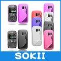 Sokii, aperto s linha de onda gel soft case tampa do telefone para o caso nokia asha 302