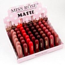 Miss Rose, водостойкая матовая губная помада, телесный, матовая губная помада, набор, сексуальные красные губы, макияж, набор, для женщин, губная помада, набор, профессиональный макияж, набор