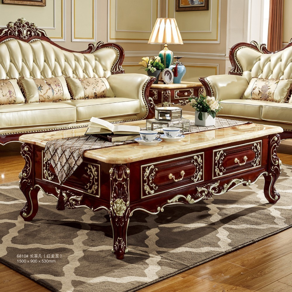 Sofa Centre Table: Antique Solid Wood Sofa Center Table For Luxury European