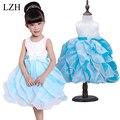 LZH 2015 de Calidad Superior Niñas Vestidos de Los Niños Vestidos de Princesa de la Nieve Blanca Rapunzel Cenicienta Aurora Niños Fiesta de Disfraces De Halloween