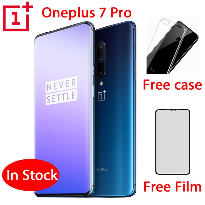 Global ROM Original Oneplus 7 Pro Mobile Phone 6.67 Inch 4000mAh Android 9 Snapdragon 855 6GB RAM 128GB ROM Smartphone