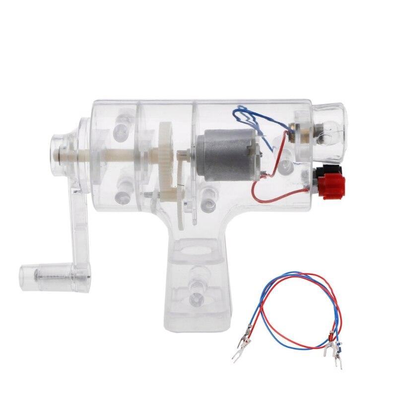 Hand Generator Dynamo Transparent School Physics Equipment Experiment Electrical