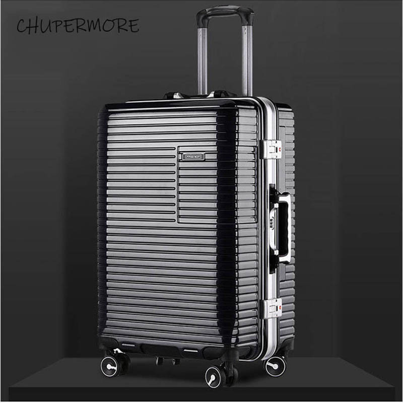 20 24 inch size New Korean aluminum frame Rolling Luggage Spinner Men Business brand Suitcase Wheels