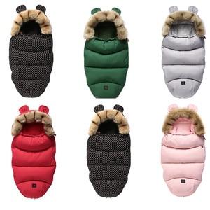 Image 1 - Kış bebek arabası uyku tulumu Yoya artı Yoyo Vovo kış sıcak Sleepsacks bornoz bebek tekerlekli sandalye zarflar yenidoğan ayak