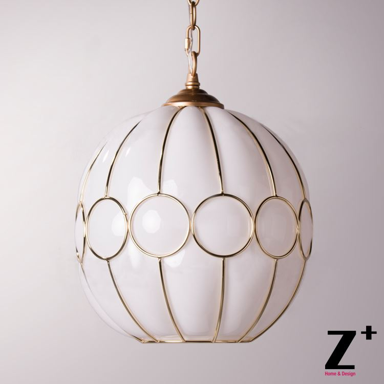 Us 259 99 New Light Art Deco Pendant Glass Lampshades Vintage Lamp Golden Sculptural Rame In Pendant Lights From Lights Lighting On Aliexpress