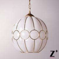 New Light Art Deco Pendant Glass Lampshades Vintage Lamp Golden Sculptural rame