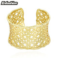 Enfashion Scrollwork Decorate Bracelet Manchette Gold Plated Wide Bangle Bracelet For Women Cuff Bracelets Bangles Pulseiras