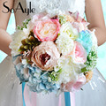 SoAyle Hot selling Wedding Bouquet 2016 bridal bouquets 25cm*30cm 0.6Kg Rhinestone crystal Artificial flowers wedding flowers
