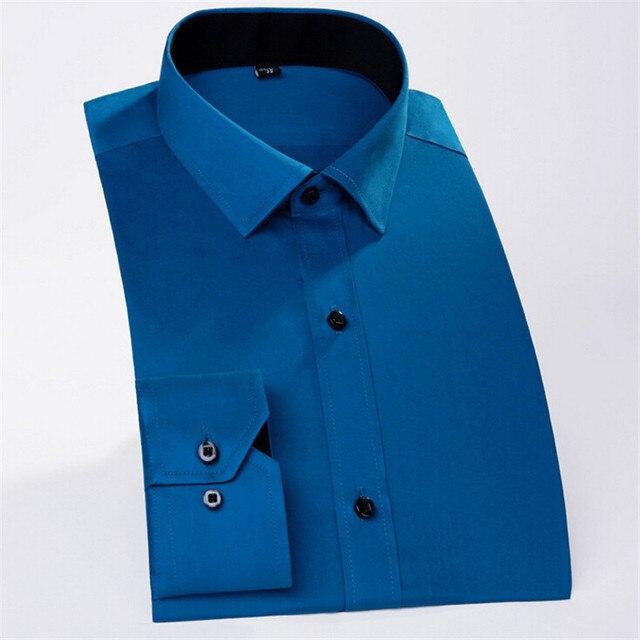 Высокое Качество Мужчины Платье Марка Хлопок футболка с длинным рукавом 4 цвет cmaisa MHB01-4 XXS-XXXL