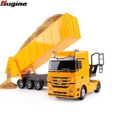 RC camión 1:32 Dumper de 10 ruedas inclinación carrito de Control de Radio camión elevador de automóviles ingeniería contenedor electrónicos del vehículo Hobby juguete