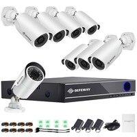 DEFEWAY 8CH DVR 1080P HDMI CCTV Системы видео Регистраторы 8 шт. 1280TVL охранных Водонепроницаемый Ночное видение Камера комплект видеонаблюдения