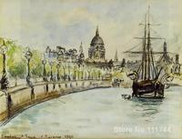 impressionist art London St. Paul s Cathedral Camille Pissarro paintings High quality Hand painted
