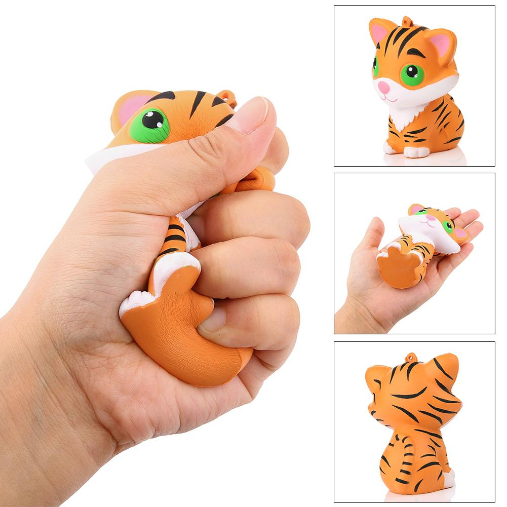Squishy Simulated Tiger Slow Rising Kids Children Squeeze Toys Stress Reliever