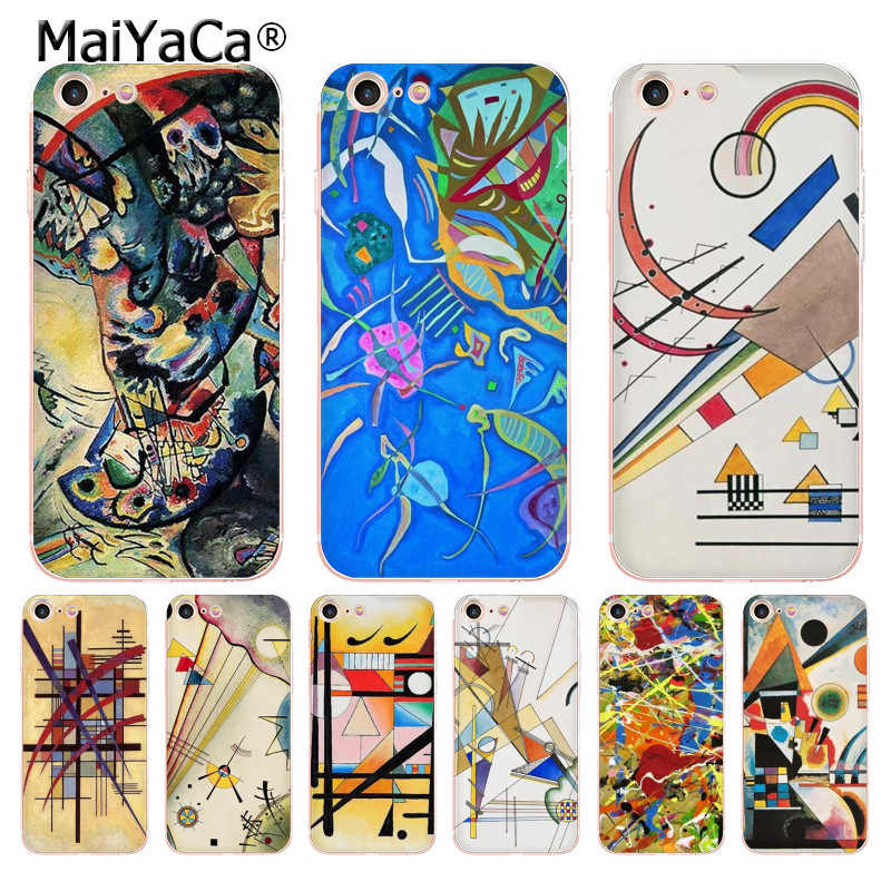 MaiYaCa ワシリー · カンディンスキー抽象芸術透明ソフト tpu 電話ケースカバー iphone 8 7 6 6S プラス X 5S 、 SE 5C ケースカバー
