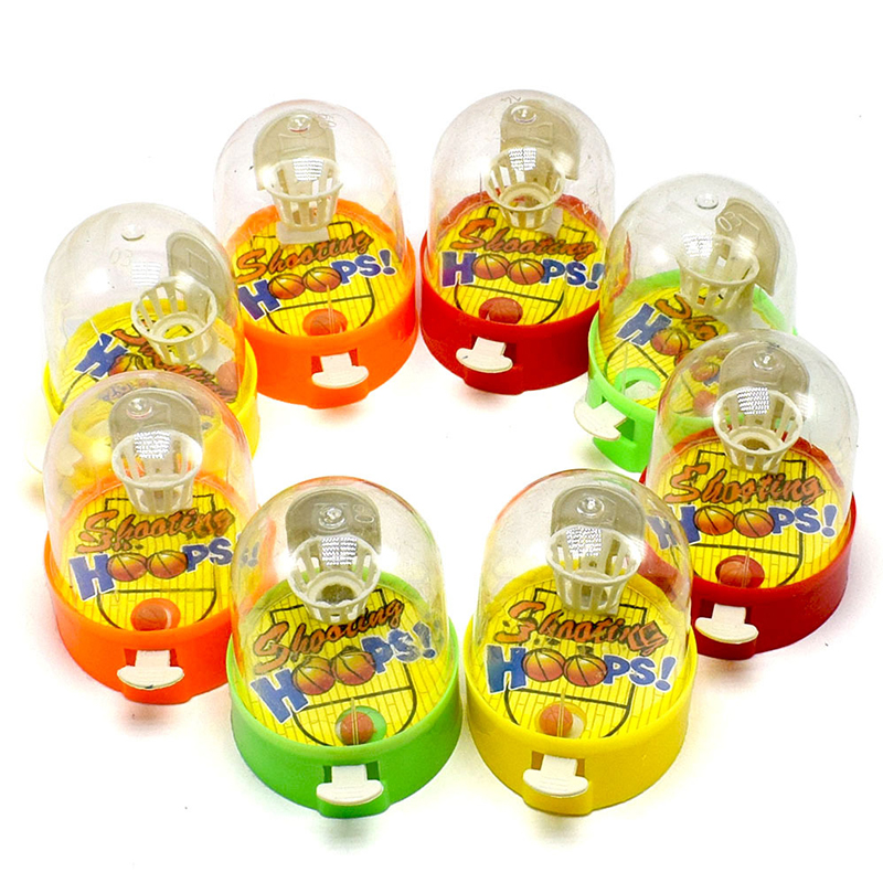 4Pcs/lot Plastic Small Mini Handheld Finger Ball Hand Basketball Hoops Shooting Puzzle Toy For Children Anti Stress Anxiety Toy