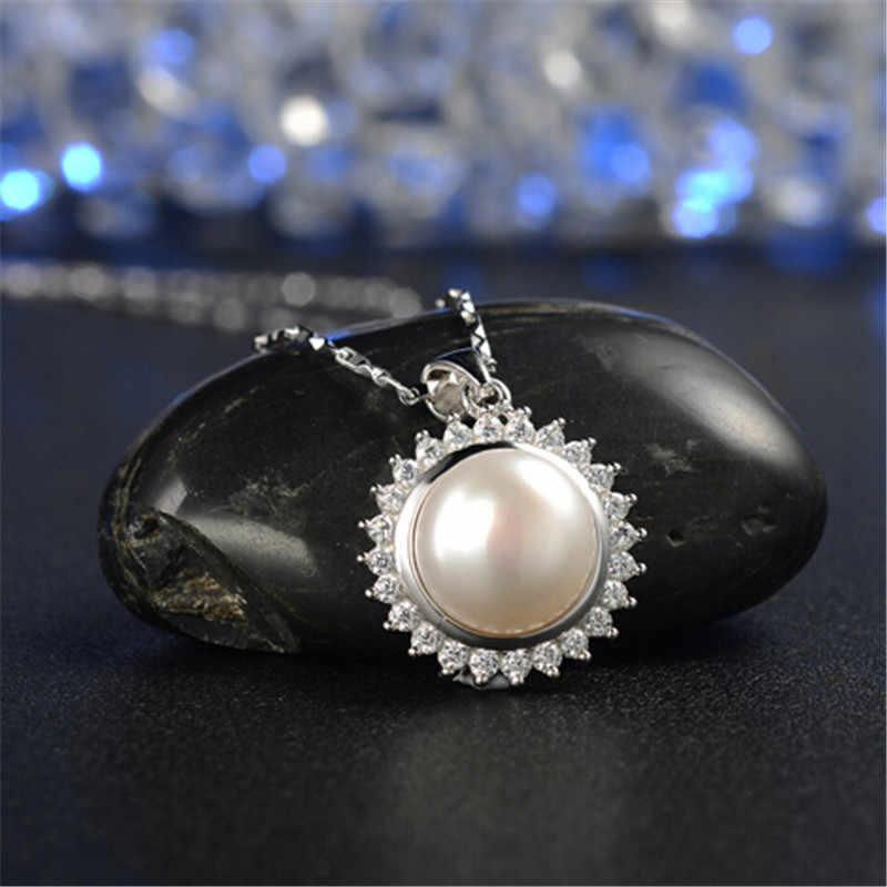 YIKALAISI 925 סטרלינג תכשיטי כסף תליוני לנשים פרל תכשיטי סטי טבעי מים מתוקים פניני שרשרת עגילים