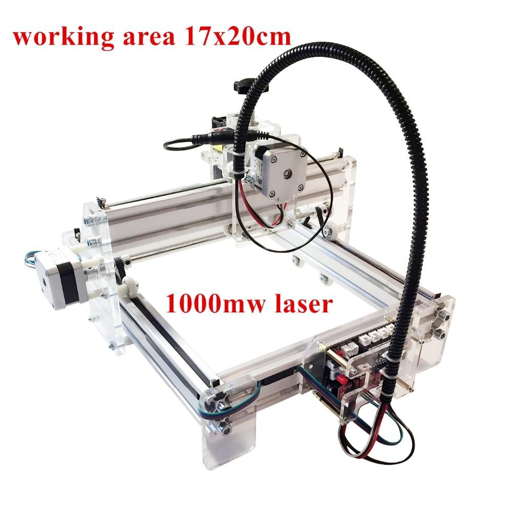 1000mw Laser engraving toy grade DIY desktop micro laser engraving machine engraving machine 170*200mm marking machine for toy dk 8 kz 1000mw diy usb laser engraving machine