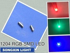 Image 1 - 3000 Uds XIASONGXIN luz 3216 3010 3016 1206 ángulo recto vista lateral RGB 1204 RGB claro Ultra brillante SMD LED indicación