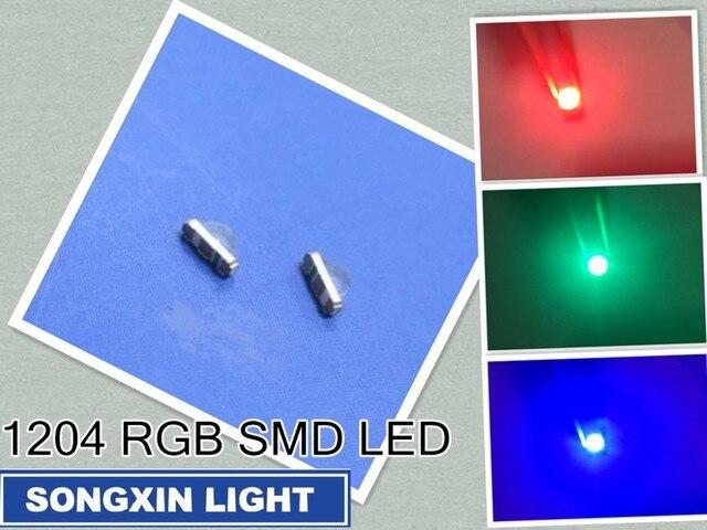 3000 Uds XIASONGXIN luz 3216 3010 3016 1206 ángulo recto vista lateral RGB 1204 RGB claro Ultra brillante SMD LED indicación